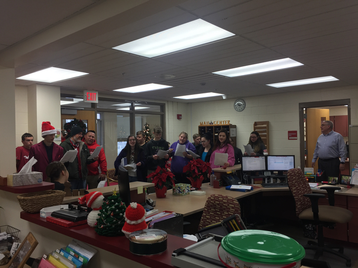 Caroling for the Superintendent's Office