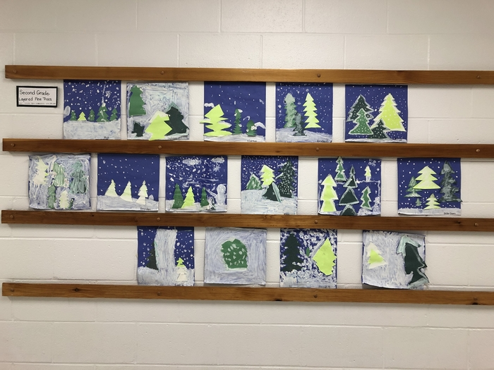 2nd grade Winter Trees