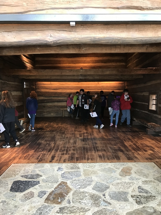 Inside the slave pen - replica of slave pen from Germantown, KY