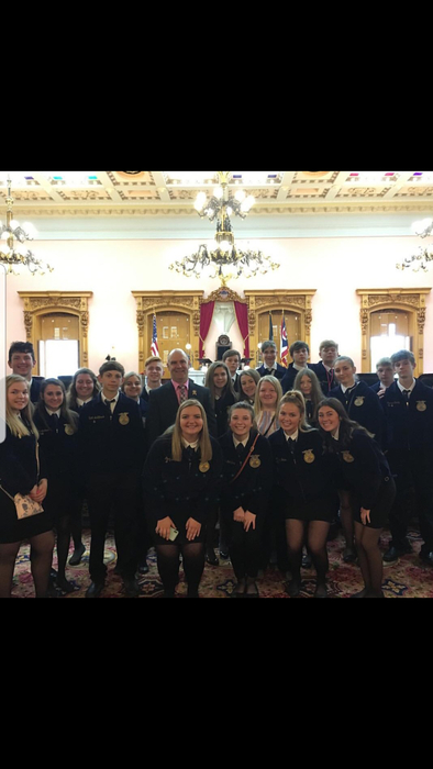 FFA students had a chance to tour the statehouse and met with State Representative, and FFA Alum Brian Baldridge!