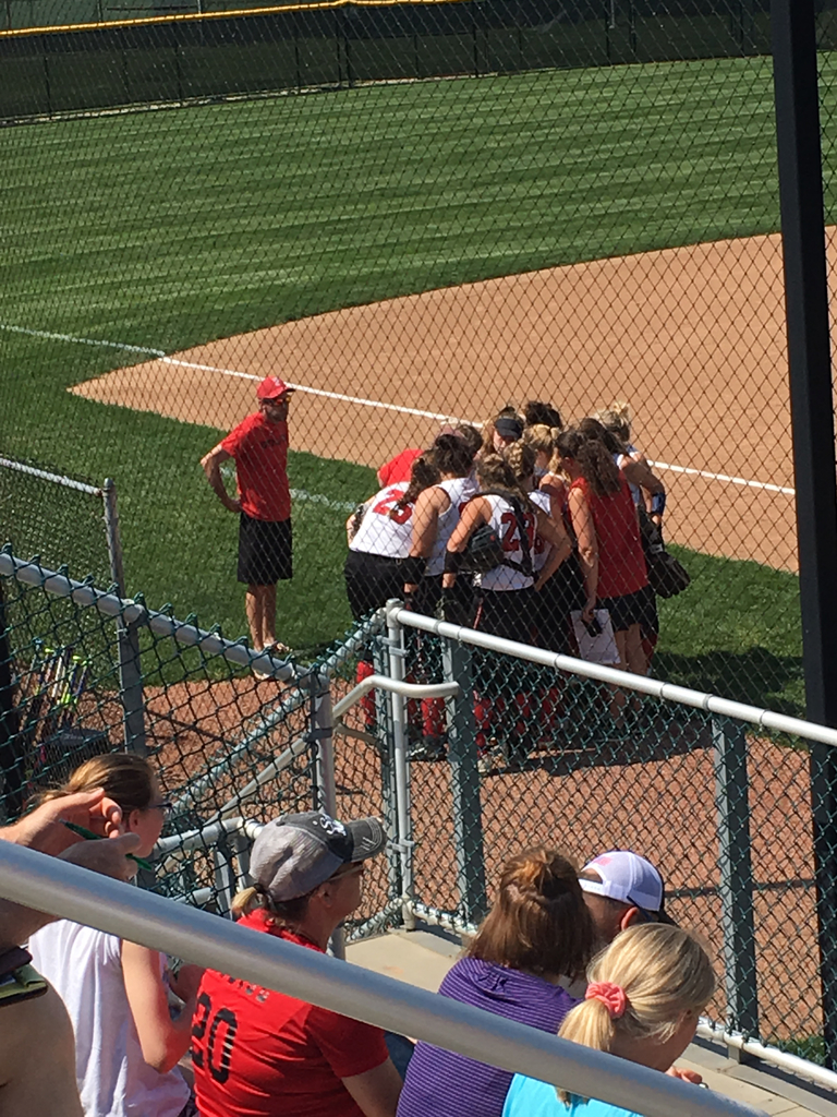 Lady Cardinals down 1-0 after 2 innings. Time to regroup and get some runs!