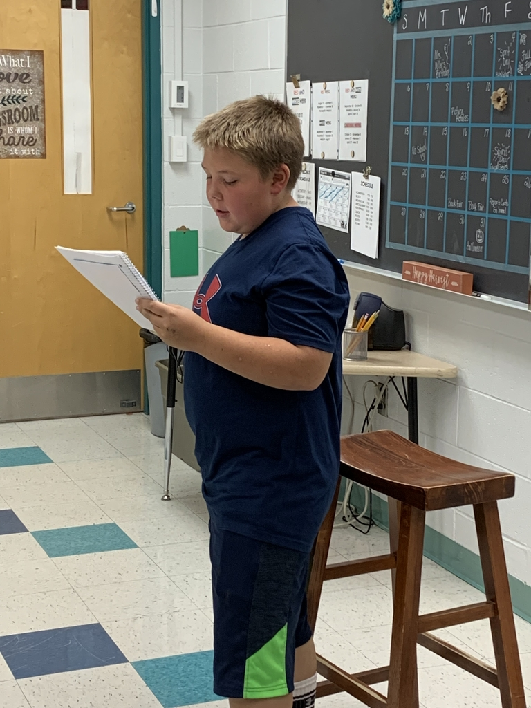 This young storyteller kept us on the edge of our seats with some spooky fall writing!
