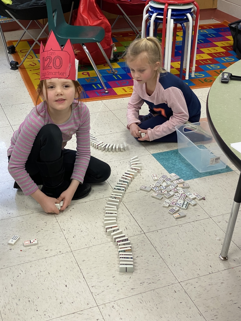 Making 120 domino train'