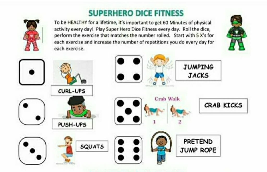 Be a Superhero with your fitness!