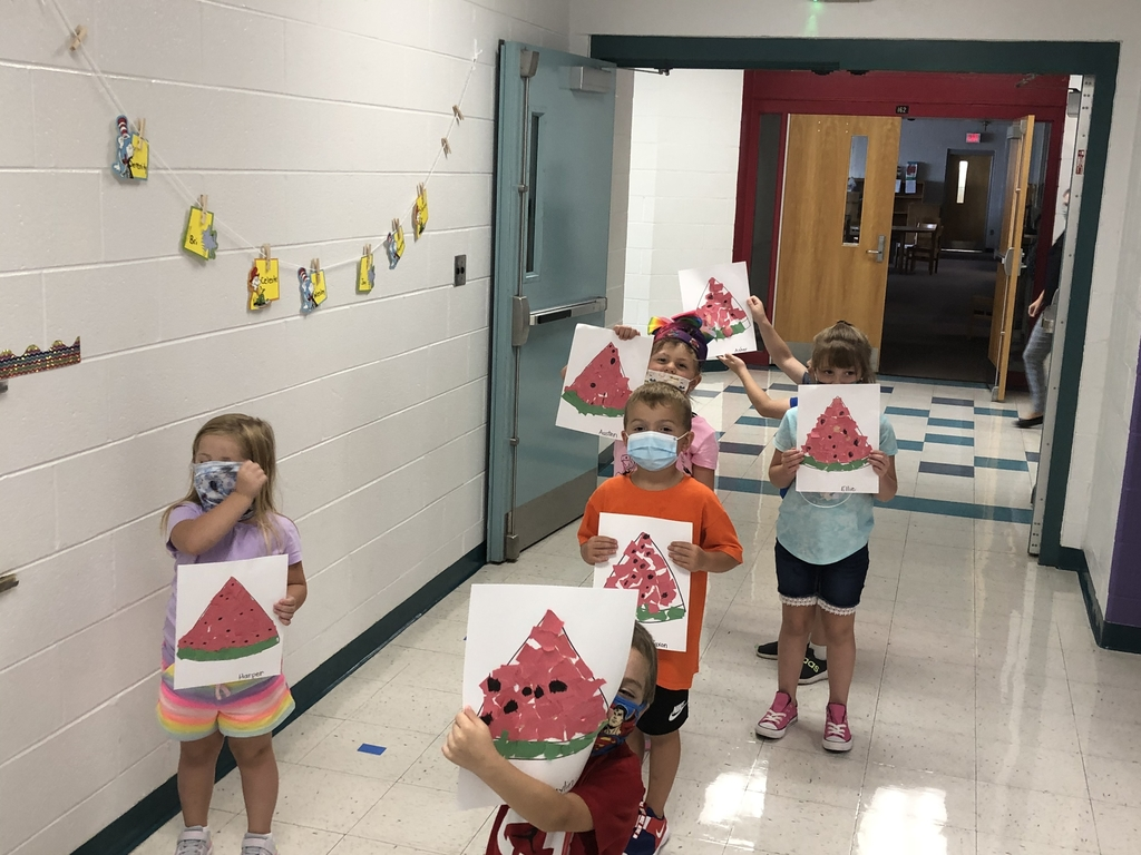 Kindergarten and their watermelons!